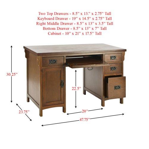 SEI Mission Brown-Mahogany Computer Desk