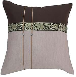 buy avarada elephant throw pillow cover decorative sofa. Black Bedroom Furniture Sets. Home Design Ideas