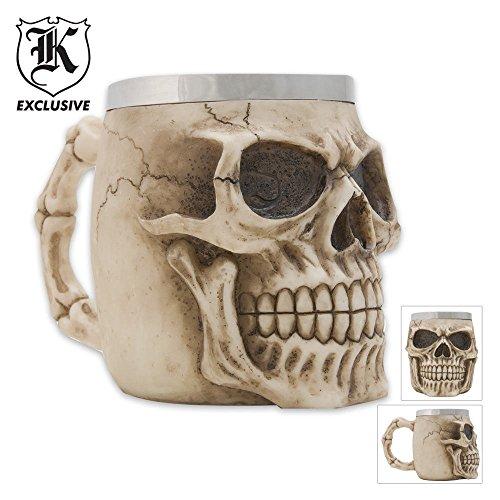Realistic Fantasy Skull Coffee Mug Tankard (Skull Mug Coffee compare prices)