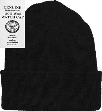 Black Military Genuine GI Winter USN Warm Wool Hat Watch Cap