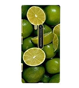Fuson Premium Lime N Lemoni Printed Hard Plastic Back Case Cover for Nokia Lumia 920