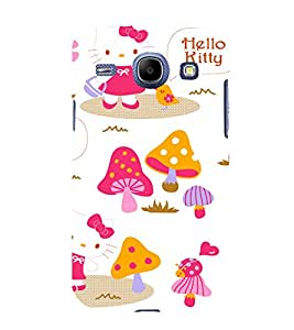 printtech Kitty Mushroom Back Case Cover for SAMSUNG Galaxy J7 - 6 (New 2016 Edition)
