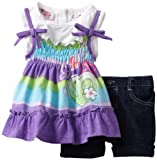 Young Hearts Baby-girls Infant 2 Piece Peace and Love Short Set