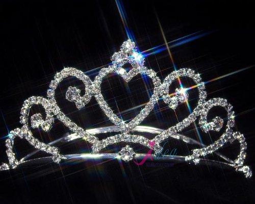 ◆人気No1◆ウェディング プリンセスハート ティアラ 結婚式 発表会◆tb