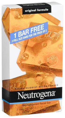 Neutrogena Original Formula Facial Bar, 3.5 Ounce (Pack of 4)