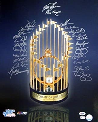 1986 World Series Champion New York Mets Autographed 16x20 Photo With 24 Signatures Including Gary Carter, Darryl Strawberry & Doc Gooden Psa/dna Stock #10768