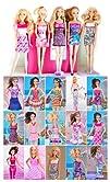 Lot of 5 Barbie Dresses Clothes, Handmade Barbie Dresses – Dolls NOT Included, Clothes Randomly…