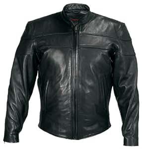 Milwaukee Motorcycle Clothing Company Motorcycle Maverick Jacket (Black, XXXXX-Large)