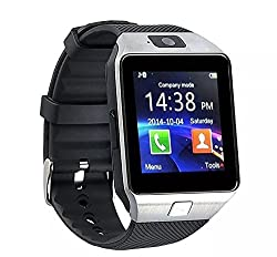 FAP Bluetooth Smart Watch Phone With Camera and Sim Card Support With Apps like Facebook and WhatsApp Touch Screen Multilanguage Android/IOS Mobile Phone Wrist Watch Phone with activity trackers and fitnessatible with Samsung IPhone HTC Moto Intex Vivo Mi One Plus and many others (Silver/Silver)
