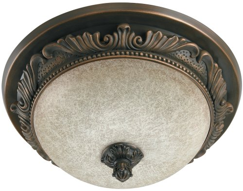 Hunter 83003 Aventine Bathroom Fan with Light and Nightlight, Aged Bronze