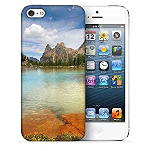 Snoogg Rocks In The Lake Printed Protective Phone Back Case Cover For Apple Iphone 5 / 5S