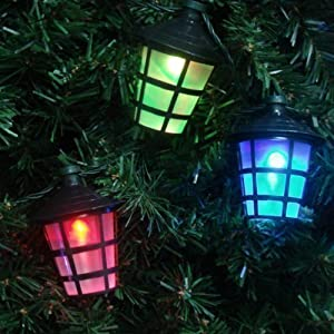 Multi Coloured Indoor Outdoor Christmas Festive 10 LED Lantern String Lights: Amazon.co.uk ...