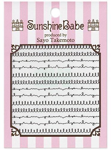 SunshineBabe ネイルシール スパイラル ブラック