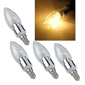 SODIAL(R) 4 X Luz Lmpara Bombilla Lamp E14 6 LED 5630 SMD 300LM Vela Blanco Clido   revisión y descripción más