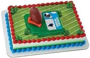 Cake Decorations Football Nets : Amazon.com: NFL Carolina Panthers Football with Tee-Cake ...