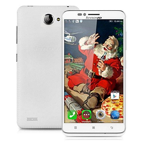 Lenovo A816 4G-Smartphone Quad Core 5,5'' Zoll Dual SIM Handy ohne Vertrag 1GB+8GB Android 4,4 GPS Näherungssensor Dual Kamera Weiß