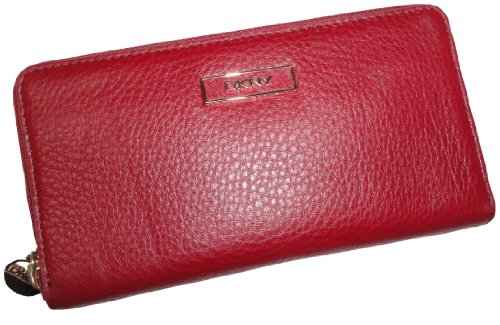 DKNY DKNY Women's Soft Ego Leather Wallet with Plaque Shiraz