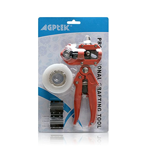 AGPtek® Professional Nursery Grafting Tool Kit (red) w/ Pruner 2 Extra Blades and Free Grafting Tape