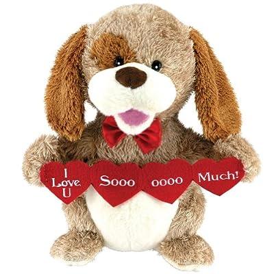 Animated Puppy Love Plush Dog Stuffed Animal Sings Sugar Pie Valentine Gift from Cuddle Barn