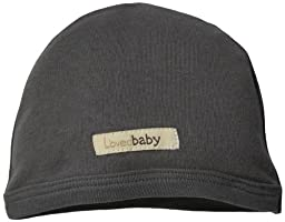 L\'ovedbaby Unisex-Baby Newborn Organic Cute Cap, Gray, 0/3 Months