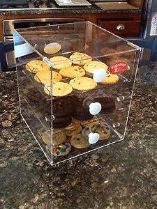 Amazon com otis spunkmeyer 3 drawer acrylic display case cookies