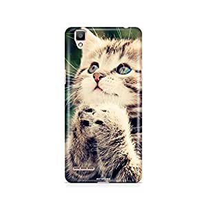 Motivatebox - Oppo F1 Back Cover - Adorable Kitty Polycarbonate 3D Hard case protective back cover. Premium Quality designer Printed 3D Matte finish hard case back cover.