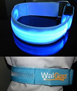 LED Safety Armband Cycling Jogging Walking Reflective LED Armband (6 Colors) (Blue)