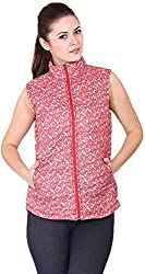 Absurd Women's Reversible Collar Jacket (ABWS14-352-RED-L, Red, L)