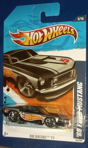 2011 Hot Wheels - BLACK '69 Ford Mustang (155/244)