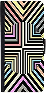 Snoogg Optical Illusion 2892 Graphic Snap On Hard Back Leather + Pc Flip Cove...