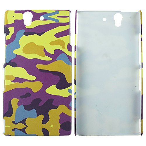 Heartly Army Style Retro Color Armor Hybrid Hard Bumper Back Case Cover For Sony Xperia Z L36H L36I - Yellow Field  available at amazon for Rs.220