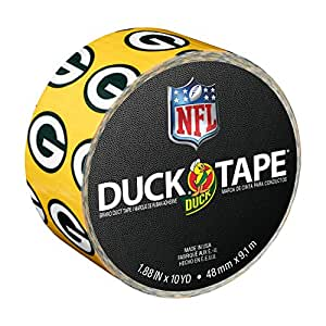 Duck Brand 241413 Green Bay Packers NFL Team Logo Duct Tape, 1.88-Inch by 10 Yards, Single Roll