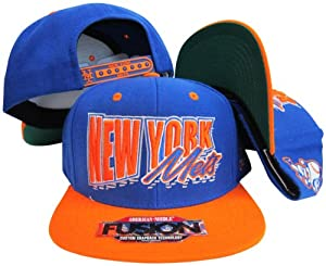 New York Mets Blue Orange Fusion Angler Snapback Hat Cap by American Needle