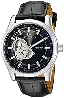 buy Lucien Piccard Men'S Lp-40006M-01 Morgana Analog Display Mechanical Hand Wind Black Watch