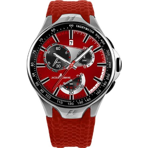 Jacques Lemans Formula 1(TM) Monte Carlo SL F-5026C Ladies Red Synthetic Strap Watch