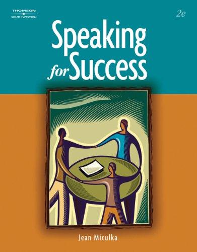 Speaking for Success (Winningedge)