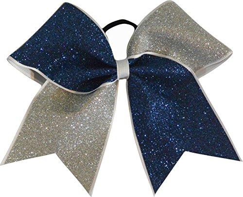 navy blue and silver glitter large