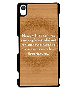 Fuson 2D Printed Quotes Designer back case cover for Sony Xperia Z3 - D4551