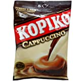 Kopiko Cappuccino Flavor Strong & Rich Coffee Candy Net Wt 120 G (40 Pellets.) X 4 Bags