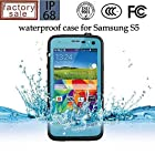 Queens@ Waterproof Water Resistant Case Cover for Samsung Galaxy S5 Sv V I9600 Phone,dustproof Snowproof Shockproof Hard Armor Protective Cover Case for Samsung Galaxy S5 Sv V I9600 ( 0-samsung S5 Waterproof Sky Blue)
