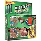 Mighty Putty 80-14190 3 Tubes Bonding Epoxy Fix Fill Seal Repair