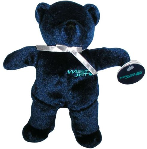 MTB7009 DaronToys Westjet Airlines Blue Teddy Bear Toy by Daron