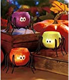 Halloween Spider Tea Light Candle holders, Set of 3