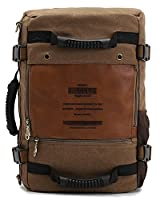 Sun*Glory Men's Vintage Canvas Backpack Rucksack Shoulder Bag Laptop Travel Camping Bag