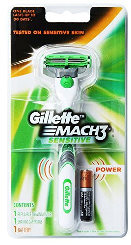gillette-sensitive-mach3-power-mens-shaving-razor-1-razor-handle-1-cartridge-1-battery