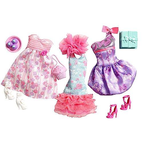 Barbie-3-Trend-Garderoben-Set-Mode-Kleider-Kleidung-Party