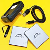 New 2x 3500mAh Li-ion Batteries Travel Home USB Charger Micro Sync Data Cable Stylus for Net10 Samsung Galaxy J5 LTE J500M SM-J500F Phone - AceSoft (Color: as shown in picture)