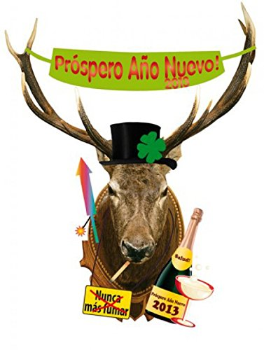 noche-vieja-deer-head-prospero-ano-nuevo-good-intentions-in-spanish-pegatina-para-pared-149-x-117cm