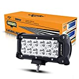 """Auxbeam 7"""" LED Light Bar 36W 3600LM CREE Driving Light 30 Degree Spot Beam Waterfroof for Car Pickup SUV UTV Jeep Truck Off-Road Boat"""