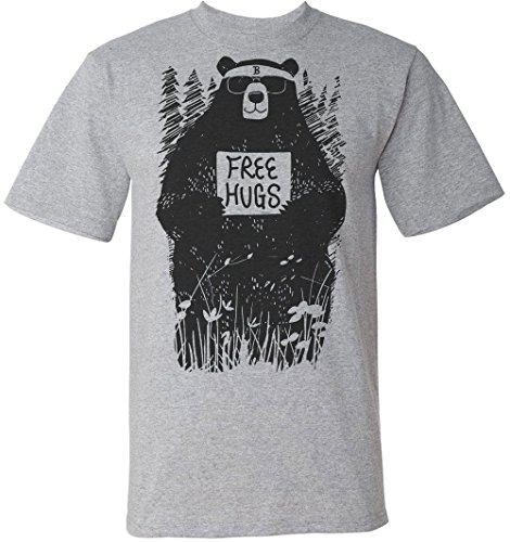Cool Hipster Bear Offers Free Hugs Men's T-Shirt Medium
